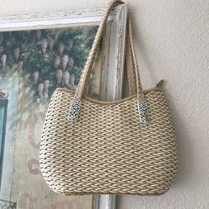 BRIGHTON Straw-style Shoulder Bag NWOT!
